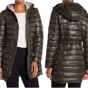 NEW Kenneth Cole Medium Hooded Packable Puffer